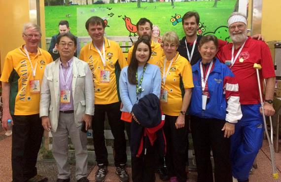Australian and USA team members