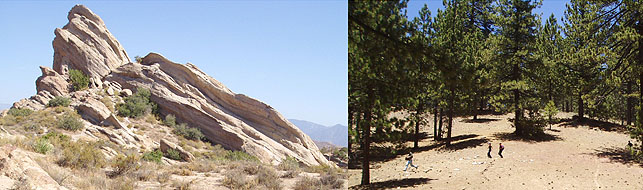 Vasquez Rocks and Mt. Pinos