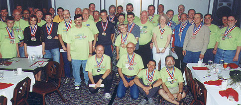 Competitors at closing banquet