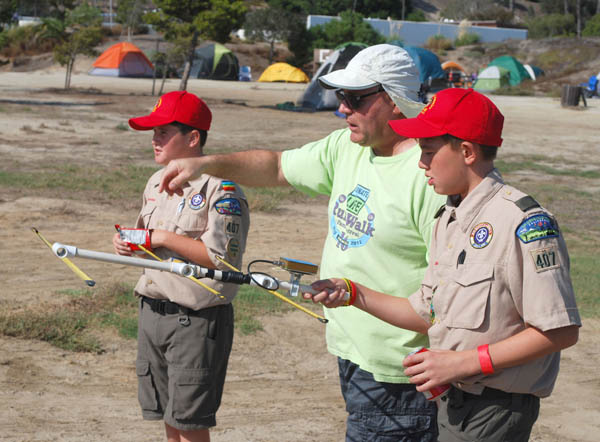 Boy Scouts doing ARDF