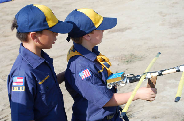 Cub Scouts doing ARDF