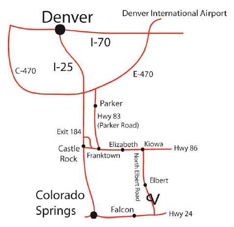 Denver-to-Elbert map