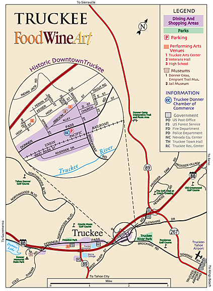 Truckee town map